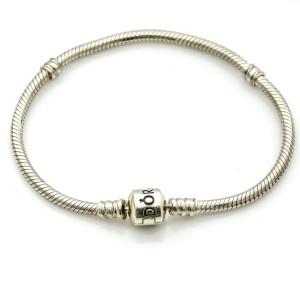 Pandora Sterling Silver Moments Snake Chain Bracelet 590702HV-21