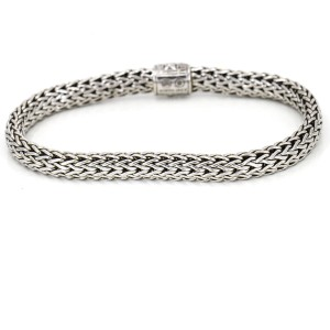 John Hardy Sterling Silver Classic Chain Bracelet with Blue Sapphire