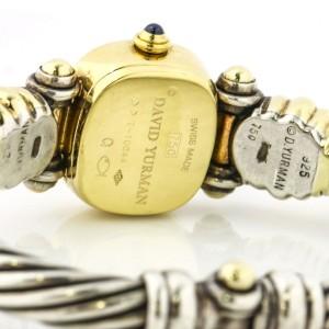 David Yurman Diamond Cable Classics Watch in 18k Gold Sterling Silver