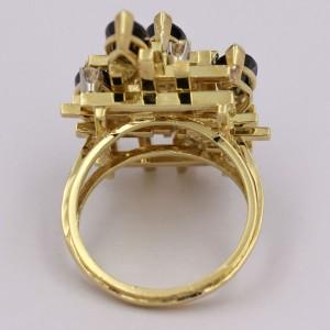 Henry Dunay Tourmaline Diamond 18k Yellow Gold Statement Ring