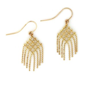 Tiffany & Co. 18k Yellow Gold Fringe Flower Earrings