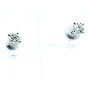 ESTATE 14k White Gold .40ct Round Diamonds Ladies Stud Earrings