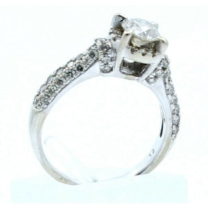 14k White Gold 1.0ct Diamonds Ladies Ring
