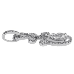 Fancy 0.96 CT Diamonds 18K White Gold Drop Pendant » N117