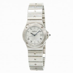 Ladies Movado 3989469 White Dial Date Stainless Steel Quartz Watch