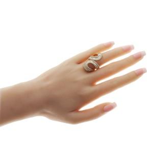 Fancy 18K Yellow Gold 3.79 CT Diamond Wrap Ring Size 6-8