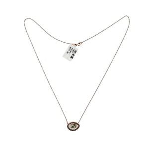 """14K Rose Gold 1.63 CT Slice Diamonds Necklace Size 18"""""""