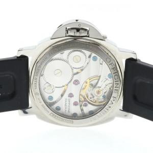 Panerai Luminor Marina PAM 111 Stainless Steel On Black Rubber Strap Watch