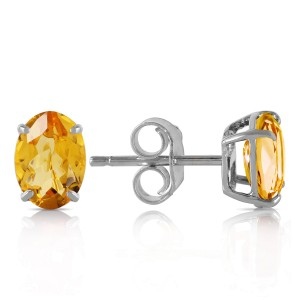 1.8 CTW 14K Solid White Gold I Found Someone Citrine Earrings