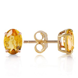 1.8 CTW 14K Solid Gold A Bee Or Two Citrine Earrings