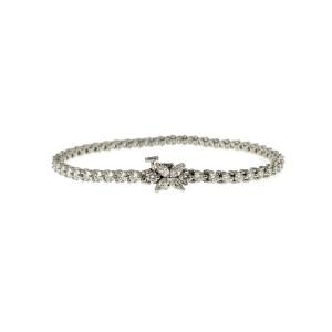 "Auth Tiffany & Co Victoria 950 Platinum 3.08ct Diamond Bracelet Size 6.5"" $15500"