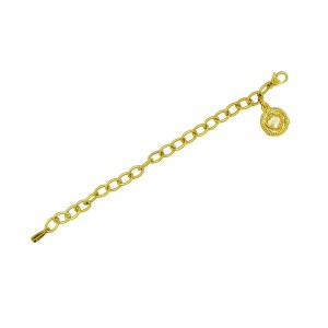 "Authentic Judith Ripka 18K Yellow Gold Citrine Heart Diamond Bracelet Size 7"""