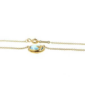 """Auth Tiffany & Co 18K Yellow Gold Paloma Picasso Olive Leaf  Necklace 18"""""""