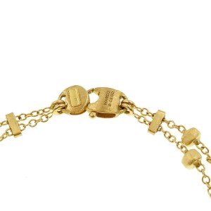 "Marco Bicego 18K Yellow Gold Mixed Stone Two Strand Paradise Bracelet Size 7"""