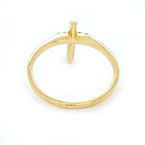 Diamond 14k Yellow Gold Cross Ring