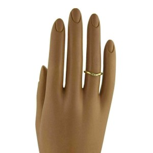 Tiffany & Co. 3 Diamond 18k Yellow Gold Curved Band Ring