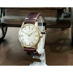 Mens Vintage Longines CONQUEST 18k Yellow Gold 35mm Automatic Watch