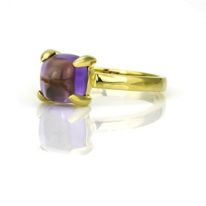 Tiffany & Co. Paloma Picasso Sugar Stack Amethyst Ring in 18k Yellow Gold