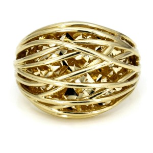 Women's Cage Dome Ring in 14k Yellow Gold