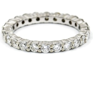 1.50 Carat 14k White Gold Diamond Eternity Band
