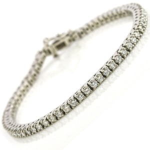 Women's Diamond Tennis Bracelet in Platinum ( 3.00 ct tw )