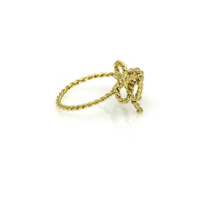 Tiffany & Co. Rope Bow Ring in 18k Yellow Gold