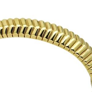 Tiffany & Co. Cordis Chevron Groove Bangle Bracelet in 18k Yellow Gold