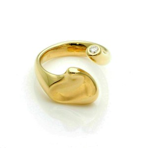Tiffany & Co. Peretti Full Heart Diamond 18k Yellow Gold Open Ring