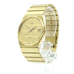 CONCORD MARINER 14k Yellow Gold Date Thin Quartz Men's Watch 77.6 grams