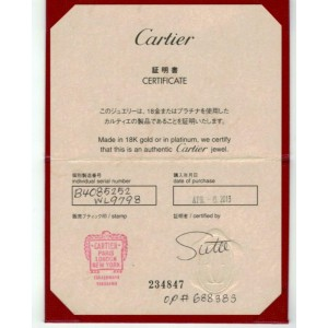 Cartier Mini Love 18k Pink Gold 3.6mm Band Ring Size 52 w/Cert