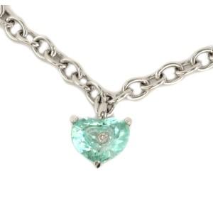 Chopard So Happy Diamond Green Stone 18k Gold Heart Bracelet w/Cert
