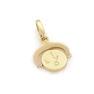 Cartier 18k Yellow Gold I Love You Spinner Charm Pendant w/Cert