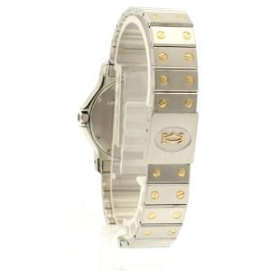 Cartier Santos Octagon Stainless Steel Gold Date 30mm Men's Watch
