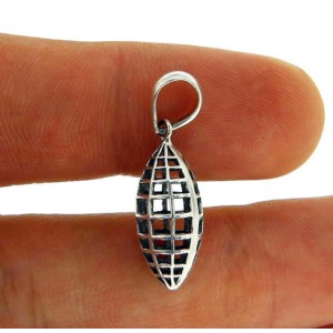 Solid Sterling Silver Bali Designer Pendant-NEW