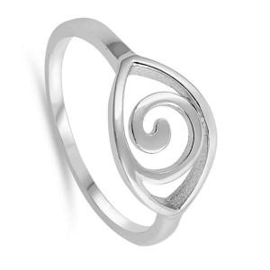 Women's 925 Sterling Silver Spiral Eye Band Ring Size 5-10