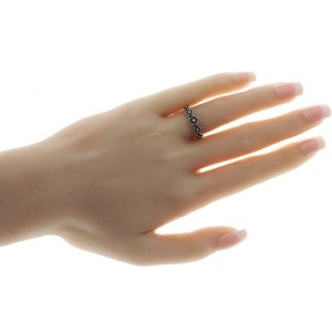Women's 925 Sterling Silver Oxidized Flowers Band Ring Size 4-12