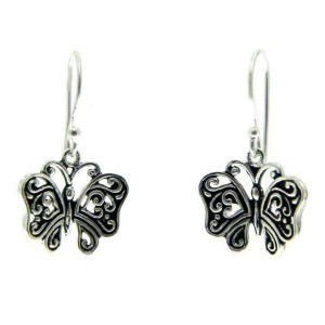 925 Sterling Silver Butterfly Dangle Earring» E224