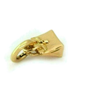 Hermes 18k Yellow Gold Handbag Charm Pendant