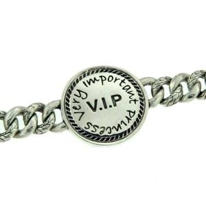 """¦Men's 925 Sterling Silver VIP Curb Cuban Chain Bibi Bracelet Size 6 3/4"""" » B17"""