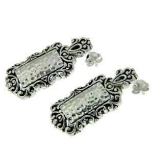 ¦Women's 925 Sterling Silver Hammered Earring Pendant Set ANTIQUE DESIGN » S16