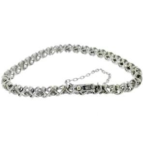14k White Gold Diamond Tennis Bracelet Aprox 1.00 CTW