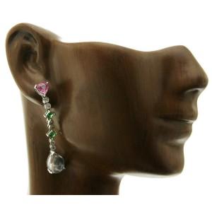 18K Gold 0.24 CT Diamonds & 6.05 CT Multi Stones Drop Earring »BL124
