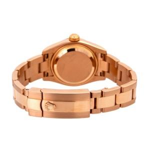 Rolex DateJust 179165 18K Everose Gold ladies watch with Box 26MM