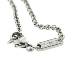 18k White Gold Chopard Square Happy Diamond Pendant Necklace