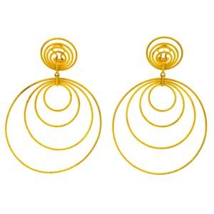 Buccellati 18k Gold Hawaii Double-Drop Earrings