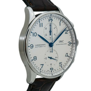 IWC Portuguese Chronograph IW371446 Automatic Blue Marker Deployment Buckle 41MM