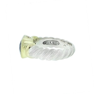 David Yurman Noblesse Two Tone Pink Tourmaline Cable Ring