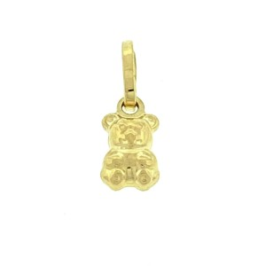 18k Yellow Gold Small Bear Pendant