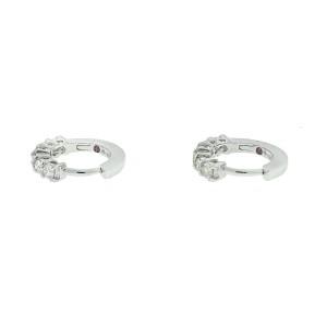 Roberto Coin 18k White Gold Diamond Huggie Earrings