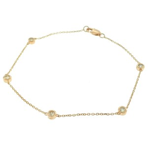 14k Rose Gold Diamonds by the Yard Bracelet Aprox .25ctw